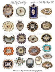 Eye Jewelry, Jewelry Art, Antique Jewelry, Vintage Jewelry, Jewlery, Cameo Jewelry, Vintage Hats, Lovers Eyes, Art Terms