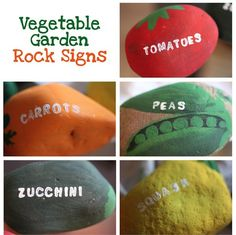 Vegetable Garden Markers | DIY Vegetable Garden Rock Markers