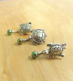 Turtle Belly Button Ring by MidnightsMojo on Etsy, $15.00