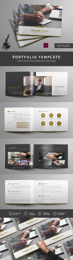 Portfolio Brochure Template InDesign INDD