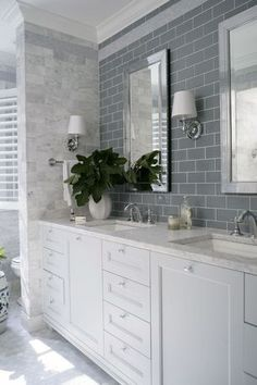 """""""View this Great Traditional Full Bathroom with Double sink & Complex marble counters by Britney Thompson. Discover & browse thousands of other home design ideas on Zillow Digs."""""""