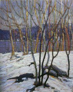 Tom Thomson Catalogue Raisonné | Evening, Early Spring, Winter 1916–17 (1916-1917.08) | Catalogue entry