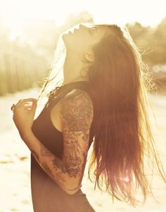 Feel. Free. Be. Patient. #brownhair #hairstyle #longhair #lovely  #tattooed #tattooedgirl #tattoo #tattoos #tat #ink #inked #weheartit #free #girls #chesttattoo #sleeve #tattoosleve #famous #inkedup #girlswithtattoos #natural #beauty #tumblr #tumblrgirl #tumblrgirls #fashion #hot #filter #art #bodyart #inkedgirls #inkgirl