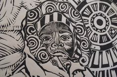 linoleum block print art - Google Search
