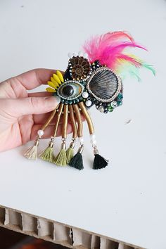Set of 2 halloween brooches Felted creepy cute pins. Spider brooch and halloween evil eye brooch
