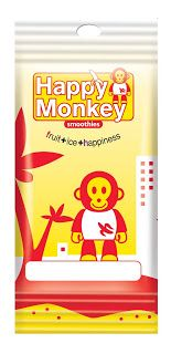 Dimitris Klonos Art Directory: Happy monkey smoothies packaging