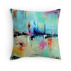 Throw Pillow Cover  Blue Throw Pillow Cover Modern Design Pillow Cover, Modern home decor pillow cover ,Sofa, Bed ,Chair, Couch, Home Decor