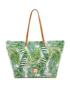 This chic tote is designed with palm print in a nylon fabric. Carry all of  your necessities and provide a fun look while doing it with this perfectly  ... 126076d2ed09c