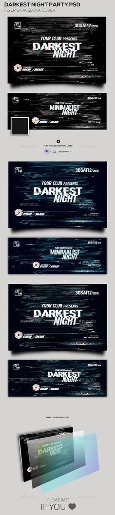 Darkest Night Party Flyer & Facebook Cover Tempalte #flyertemplate Download: http://graphicriver.net/item/darkest-night-party-flyer-facebook-cover/12171151?ref=ksioks