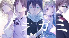 Noragami Aragoto, Yato, Yukine, Hiyori Iki, Bishamon, Kazuma