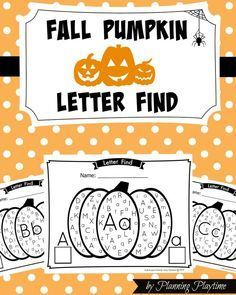 Worksheets have never been so fun. Work on Upper and Lower case letter recognition and Counting in this new Fall Pumpkin Alphabet Letter Find. Fall Preschool, Kindergarten Literacy, Preschool Learning, Literacy Centers, Preschool Halloween, Halloween Activities, Preschool Ideas, Learning Activities, Teaching Resources