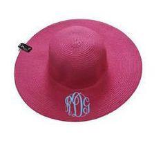 Monogram Floppy Sun Hat - Solid Pink Simply Southern Monograms Floppy Sun Hats, Simply Southern, Monograms, Online Boutiques, Pink, Monogram, Pink Hair, Roses