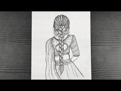 Indian Traditional Girl Pencil Drawing || How To Draw Indian Girl Drawing || Pencil Sketching - YouTube Beautiful Girl Drawing, Pencil Drawings Of Girls, Pencil Sketching, Indian Girls, Hello Everyone, Traditional, Youtube, Art, Art Background