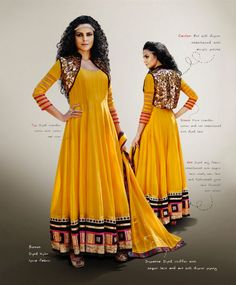 Fabrics :- Top : chanderi cotton with dhupion jacket Bottom : Nylon Lycra Dupatta : Chiffon #Designer #Anarkali  Price :- Rs.6980/-  Design No. :- Jb-300-2005