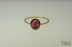Yellow Gold Ring, Stone Gold Ring, Pink Tourmaline, Unique Color, Coloured Gem, 14k Solid Gold, Alternative Engagement ring, Special Jewelry by TALUrockngold on Etsy