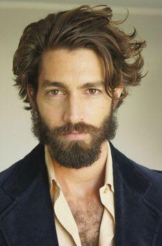 Long hair with beard