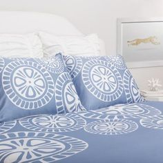 Bedroom inspiration and bedding decor | The Sunset Blue Duvet Cover | Crane and Canopy