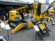 Brokk remote controlled demolition robots.