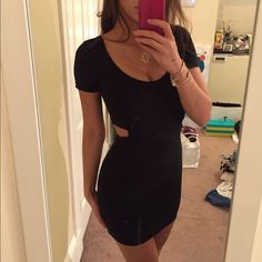 Form-Fitting Cut Out Dress