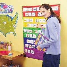 Amazon.com : Learning Resources Rainbow Pocket Chart : Classroom Pocket Charts : Office Products