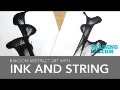Pulled String Flower Painting Technique for Beginners ♡ Maremi's Small Art ♡ - YouTube