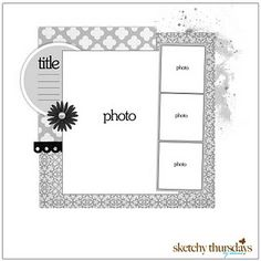 scrap book page ideas (Link goes to blog, not blog post.)