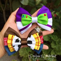 Buzz Lightyear and Woody Inspired Hair Bows by PreciousWonderland on Etsy