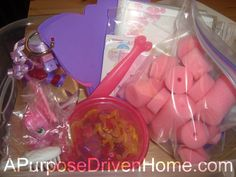 Great Toddler activity packs...really great ideas here, including adding magnets to the back of cute erasers to play with on a cookie sheet