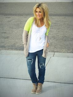 I have a sweater similar to this, now I just need some Express from jeans and white tee! :D