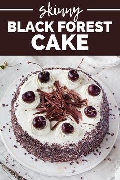 This skinny black forest cake gives you all the amazing flavors you love, with less sugar and fat! You'll love this healthy dessert recipe that's better for you than the original. Try this easy black forest cake recipe today.