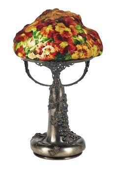 Pairpoint puffy Azalea table lamp, Bonham's lot #50