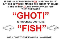 Welcome to the English Language indeed!