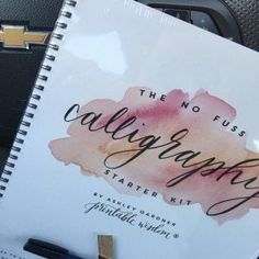 learn Calligraphy kit how to calligraphy instruction book calligraphy pen no fuss calligraphy set Calligraphy Kit, Calligraphy Practice, Beautiful Calligraphy, Minnie Mouse Cake Topper, Page Three, Wire Binding, Bound Book, I Remember When, Brush Pen