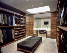 Walk-in Closet for Men - Masculine closet design (11)