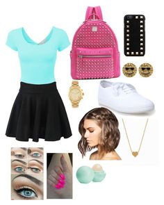 """""""First day of school outfit #1"""" by starbucks8963 ❤ liked on Polyvore"""