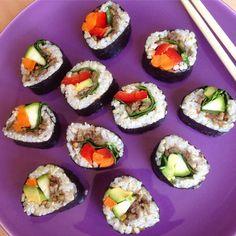 Vegansk sushi Ethnic Recipes, Food, Hoods, Meals
