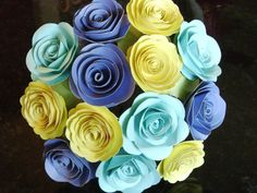 Veronique's 2 spiral paper roses alternative by HBixbyArtworks