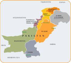 map northwest pakistan   Pakistan in pictures