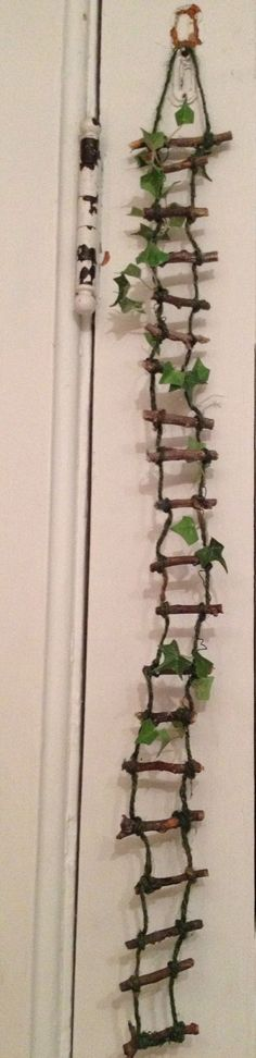 fairy gardens with stick ladders - Google Search