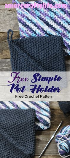 Crochet Hot Pads, Diy Crochet, Crochet Geek, Beginner Crochet, Crochet Crafts, Yarn Crafts, Kids Crafts, Crochet Classes, Crochet Projects