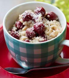 Breakfast risotto : coconut cherry.