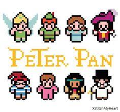 Peter Pan Cross Stitch Pattern PDF INSTANT by XStitchMyHeart