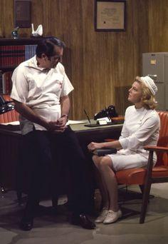 GENERAL HOSPITAL - John Beradino (Dr. Steve Hardy) and Rachel Ames (Nurse Audrey March) - shoot date: April 6, 1970 (Photo by ABC Photo Archives) JOHN BERADINO;RACHEL AMES