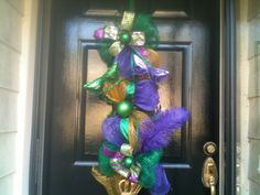 New+Orleans+Mardi+Gras+wreath+swag+deco+mesh+by+rhmnola74+on+Etsy,+$60.00
