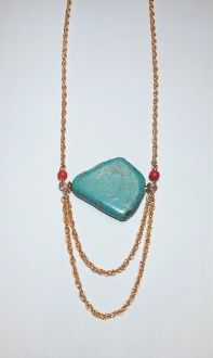 Customer Fave! Double Strand Turquoise Stone Necklace $16!! www.thejewelledbee.com