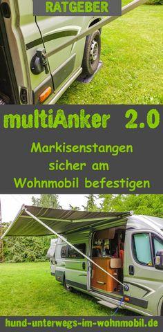 Multianker 2.0 – Markisenstangen sicher am Wohnmobil befestigen! Einfache und schnelle Montage des Multianker 2.0 an der Fahrzeugwand ohne Werkzeug. Für alle Markisen von Thule, Omnistor, Fiamma, Dometic und Prostore passend.