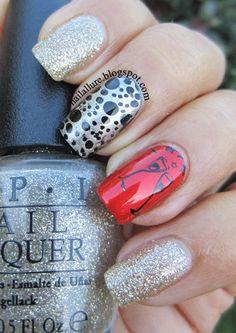 Silver nails. OPI. Polka dots. Nail Art. Nail Design. Polishes. Polish. Polished.