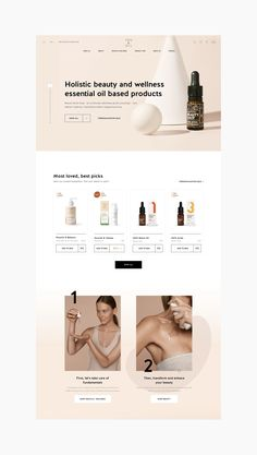 You&Oil E-commerce Website on Behance Simple Website Design, Website Design Layout, Website Design Inspiration, Web Layout, Blog Layout, Cosmetic Web, Cosmetic Design, Email Design, App Design