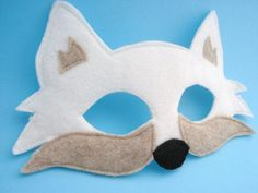 Arctic Fox Mask by herflyinghorses on Etsy, $15.00