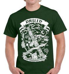 Fantasy RPG T-Shirt - Druid